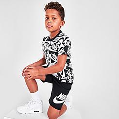 Boys' Little Kids' Nike Futura Toss Allover Print T-Shirt and Shorts Set