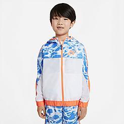 Kids' Little Kids' Nike Swish Splash Full Zip Jacket