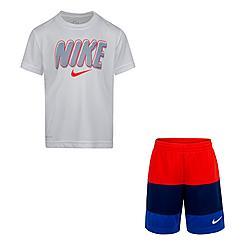 Boys' Little Kids' Nike Dri-FIT Blocked T-Shirt and Shorts Set