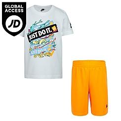 Boys' Little Kids' Nike JDI Graphic T-Shirt and Shorts Set