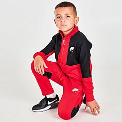 Boys' Little Kids' Nike Air Tricot Half-Zip Top and Joggers Set