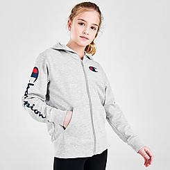 Kids' Champion Script Logo Core Full-Zip Hoodie