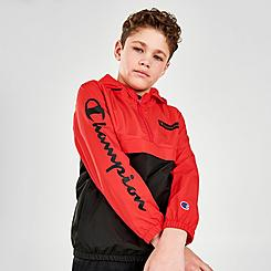 Boys' Champion Colorblock Half-Zip Windbreaker Jacket