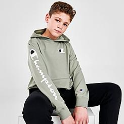 Kids' Champion Arm Logo Hit Pullover Hoodie