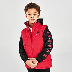 Boys' Toddler and Little Kids' Jordan Air 2Fer Puffer Jacket