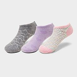 Kids' Finish Line 3-Pack No-Show Socks