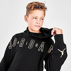 Boys' Jordan Wordmark Bonded Pullover Hoodie