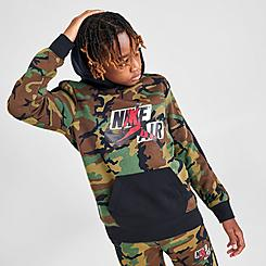 Boys' Jordan Jumpman Classics Mashup Logo Camo Hoodie