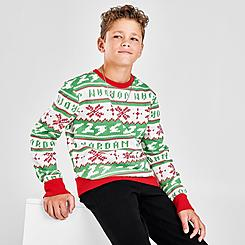 Kids' Jordan Jumpman Christmas Crew Sweater