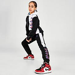 Boys' Jordan Space Glitch Colorblock Fleece Jogger Pants
