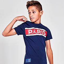 Boys' Jordan Paris Saint-Germain Bars T-Shirt