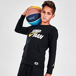 Boys' Jordan By Nike Split Graphic Crewneck Sweatshirt