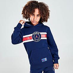 Boys' Jordan Paris Saint-Germain Stripe Hoodie