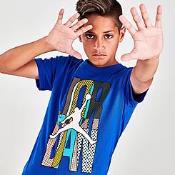 Boys' Jordan Mismatch Stack Logo T-Shirt