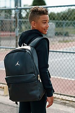 Jordan Faux Leather Backpack