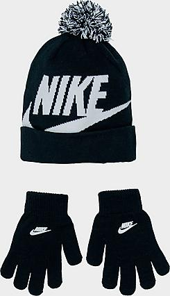 Kids' Nike Swoosh Beanie Hat and Gloves Set