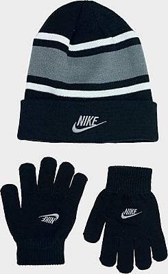 Kids' Futura Stripe Beanie Hat and Gloves Set