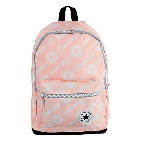 Converse All Star Logo Backpack in Pink/Pink Heavyweight poly blend fabric stands up to wear and tear Classic All Star logo reps the brand Main zip compartment, front zip pocket, side pockets Padded adjustable shoulder straps Spot clean The Converse All Star Logo Backpack is imported. Carry your stuff in classic Converse style. The Converse All Star Logo Backpack delivers a durable, stylish design and plenty of storage as you take on your day. Color: Pink. Gender: unisex. Age Group: adult. Converse All Star Logo Backpack in Pink/Pink