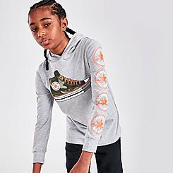 Kids' Converse Graphic All Star Logo Hooded Long-Sleeve T-Shirt