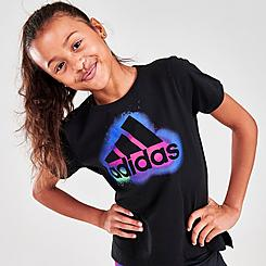 Girls' adidas Logo Side Vent T-Shirt