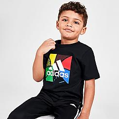 Boys' Toddler adidas Balloon Script T-Shirt