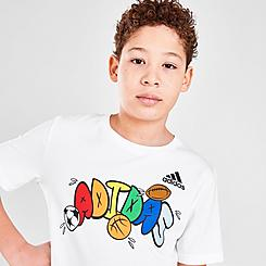 Boys' adidas Balloon Script T-Shirt