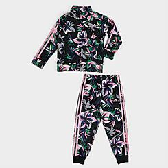 Girls' Toddler and Little Kids' adidas Training Floral Track Suit