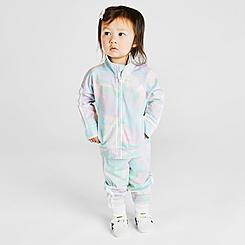 Girls' Infant adidas Training Tie-Dye Printed Track Suit