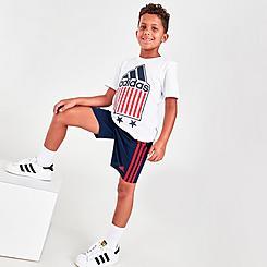 Boys' Little Kids' adidas Americana T-Shirt and Shorts Set