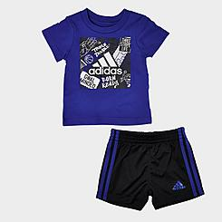 Boys' Infant adidas Badge Of Sport T-Shirt and Shorts Set