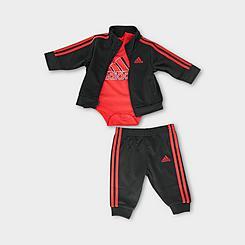 Boys' Infant adidas Badge of Sport Tricot 3-Piece Set
