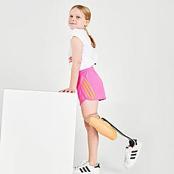 Girls' adidas 3-Stripe Mesh Shorts