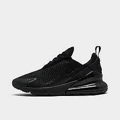 3.5, Black//White//Grey Nike Kids Grade School Air Max 270 Knit Jacquard Shoes