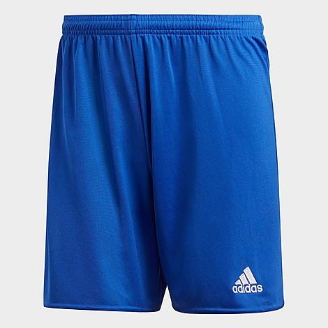Adidas Men's Parma 16 Soccer Shorts in Blue/Bold Blue Size X-Large Polyester/Plastic Size & Fit Standard fit is athletic and relaxed Made From Sustainable Materials Lead on and off the field with these soccer shorts. Built from Primegreen - a mix of hyper-performing recycled materials without the inclusion of virgin polyester - these ethically-built shorts are both game and planet-friendly. 100% recycled polyester pique Product Features Lightweight polyester material offers breathable comfort AEROREADY technology wicks away unwanted moisture Elastic waistband for a stay-put wear Badge of Sport branding on one of the legs Machine wash The adidas Parma 16 Soccer Shorts are imported. Constructed from recycled materials to assist in the ending of plastic waste, the Men's adidas Parma 16 Soccer Shorts were made to keep you focused on any task at hand - while saving the planet. Light, airy and moisture-wicking, they'll keep you ready for any drill ran your way. Size: X-Large. Color: Blue. Gender: male. Age Group: adult. Material: Polyester/Plastic. Adidas Men's Parma 16 Soccer Shorts in Blue/Bold Blue Size X-Large Polyester/Plastic