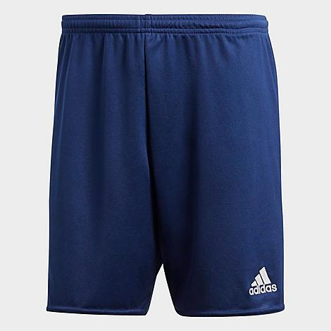 Adidas Men's Parma 16 Soccer Shorts in Blue/Dark Blue Size X-Large Polyester/Plastic Size & Fit Standard fit is athletic and relaxed Made From Sustainable Materials Lead on and off the field with these soccer shorts. Built from Primegreen - a mix of hyper-performing recycled materials without the inclusion of virgin polyester - these ethically-built shorts are both game and planet-friendly. 100% recycled polyester pique Product Features Lightweight polyester material offers breathable comfort AEROREADY technology wicks away unwanted moisture Elastic waistband for a stay-put wear Badge of Sport branding on one of the legs Machine wash The adidas Parma 16 Soccer Shorts are imported. Constructed from recycled materials to assist in the ending of plastic waste, the Men's adidas Parma 16 Soccer Shorts were made to keep you focused on any task at hand - while saving the planet. Light, airy and moisture-wicking, they'll keep you ready for any drill ran your way. Size: X-Large. Color: Blue. Gender: male. Age Group: adult. Material: Polyester/Plastic. Adidas Men's Parma 16 Soccer Shorts in Blue/Dark Blue Size X-Large Polyester/Plastic