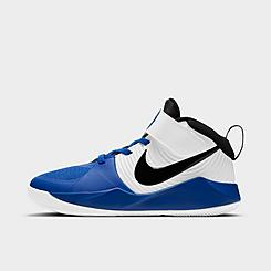 Boys' Little Kids' Nike Team Hustle D 9 Basketball Shoes