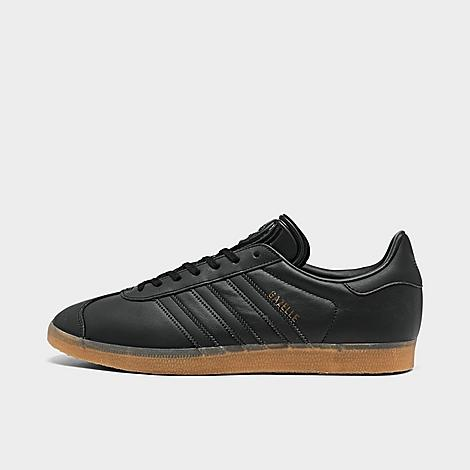 Adidas Men's Originals Gazelle Leather Casual Shoes In Core Black/gum