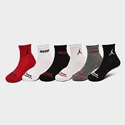 Little Kids' Jordan Legend Quarter Socks (6-Pack)
