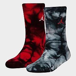 Kids' Jordan Tie-Dye Crew Socks (2-Pack)