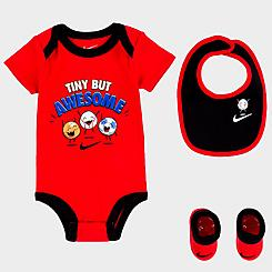 Infant Nike 3-Piece Bib and Booties Tiny But Awesome Box Set