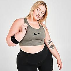 Women's Nike Swoosh Medium-Support Sports Bra (Plus Size)