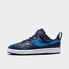 Little Kids' Nike Court Borough Low 2 Hook-and-Loop Casual Shoes