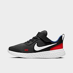 Boys' Little Kids' Nike Revolution 5 Hook-and-Loop Running Shoes