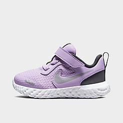 Girls' Toddler Nike Revolution 5 Hook-and-Loop Running Shoes