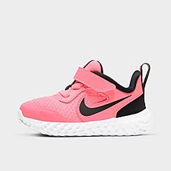 Girls' Toddler Nike Revolution 5 Hook-and-Loop Running Shoes