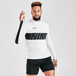 Men's Nike Dri-FIT Academy Soccer Half-Zip Long-Sleeve Drill Top