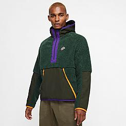Men's Nike Sportswear Sherpa Half-Zip Hoodie