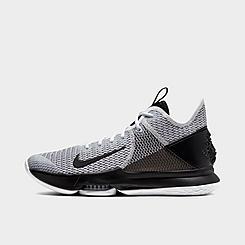 Nike Youth Lebron XV 15 Boys Basketball Sneakers Grey Wolf Size 6.5