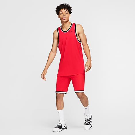 Nike Dri-FIT DNA Basketball Shorts in Red/University Red Size Small 100% Polyester/Knit Size & Fit Loose fit is oversized and roomy Basketball cut hits at the knees These shorts are in Men's sizing - refer to the size guide to get your perfect fit Product Features Lightweight knit fabric for all-day comfort Dri-FIT technology wicks sweat away from the body Elastic waistband ensures the perfect fit Side pockets for the essentials Zippered pocket at the thigh for cell phone storage and more Standout hem tape depends on the colorway 100% polyester Machine wash The Nike Dri-FIT DNA Basketball Shorts are imported. Step up and step out in the Men's Nike Dri-FIT DNA Basketball Shorts. Part of the City Exploration Collection, these shorts are inspired by your favorite places in the U.S. Size: Small. Gender: male. Age Group: adult. Material: 100% Polyester/Knit. Nike Dri-FIT DNA Basketball Shorts in Red/University Red Size Small 100% Polyester/Knit