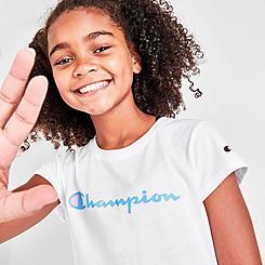 Girls' Champion Script Logo T-Shirt